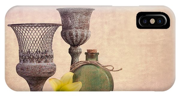Lilly iPhone Case - Still Life With Yellow Lily by Tom Mc Nemar