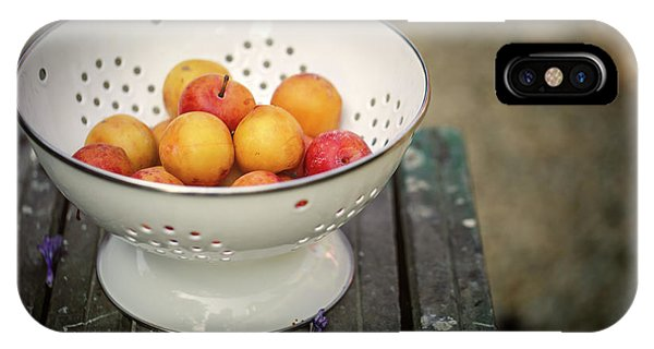Fruit Bowl iPhone Case - Still Life With Yellow Plums  by Nailia Schwarz