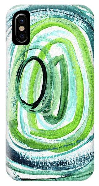 Still Orbit 9- Abstract Art By Linda Woods IPhone Case