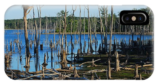 Still Wood - Manasquan Reservoir IPhone Case