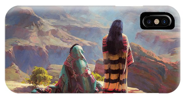 American Indian iPhone Case - Stillness by Steve Henderson