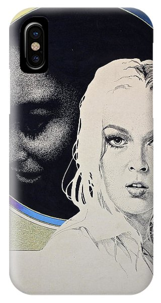 IPhone Case featuring the painting Stipple 1 --over The Hill by Cliff Spohn