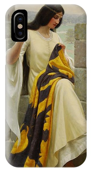 Palace iPhone Case - Stitching The Standard by Edmund Blair Leighton