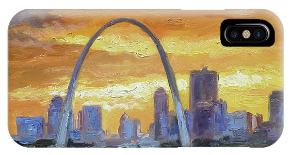 St.louis Arch - Sunset IPhone Case