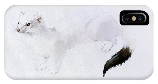 Stoat Watercolor IPhone Case