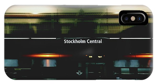 Neon iPhone Case - Stockholm Central- Photograph By Linda Woods by Linda Woods