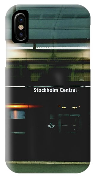 Train iPhone X Case - Stockholm Central- Photograph By Linda Woods by Linda Woods