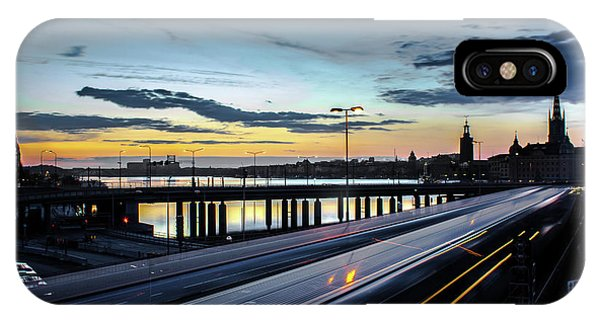Long Exposure iPhone Case - Stockholm Night - Slussen by Nicklas Gustafsson
