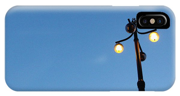Street Light iPhone Case - Stockholm Street Lamp by Linda Woods