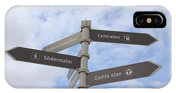 Street Sign iPhone Case - Stockholm Street Signs by Linda Woods