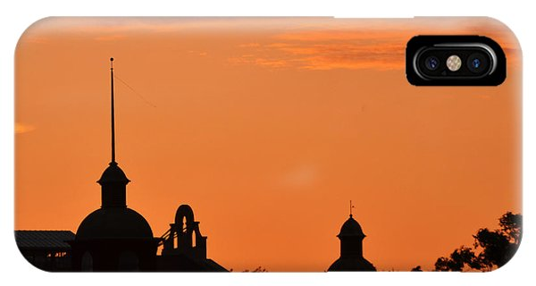 IPhone Case featuring the photograph Stockyard Sunset by Ricardo J Ruiz de Porras