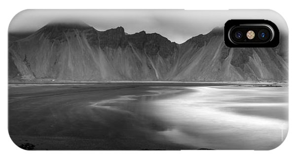 Stokksnes Iceland Bandw IPhone Case