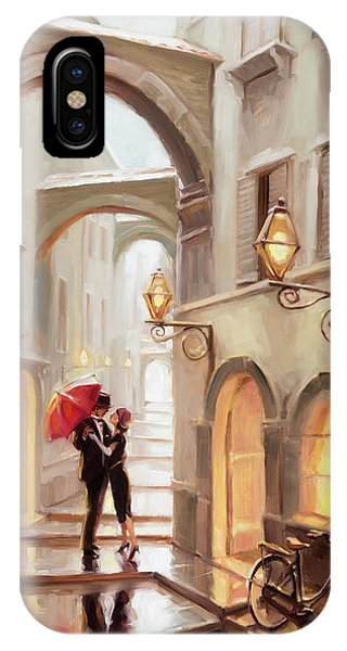 Arched iPhone Case - Stolen Kiss by Steve Henderson
