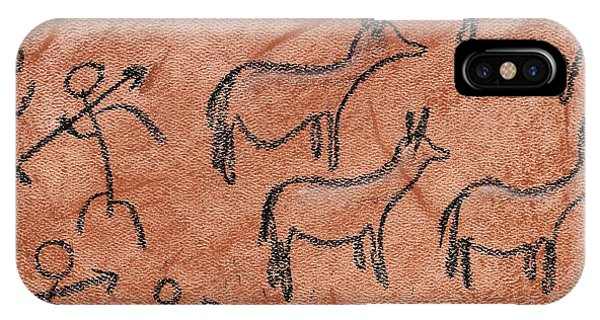 Stone Age Hunt IPhone Case