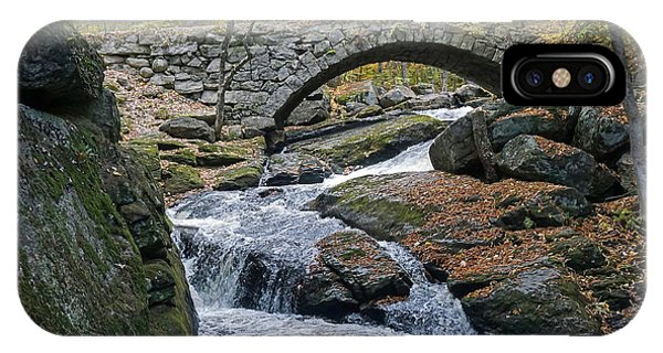 Stone Arch Bridge In Autumn IPhone Case