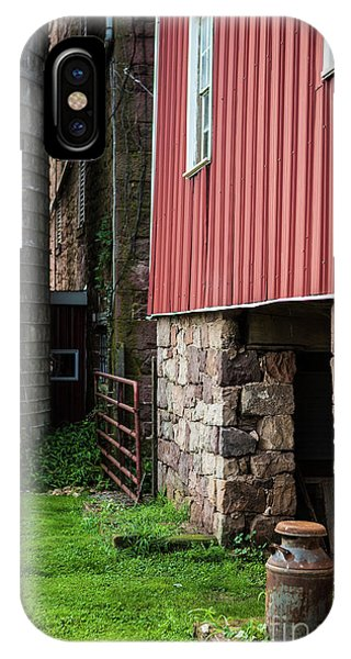 Stone Barn With Milk Can IPhone Case