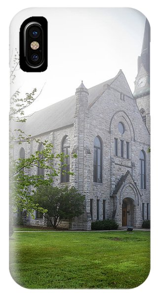 Stone Chapel In Fog IPhone Case