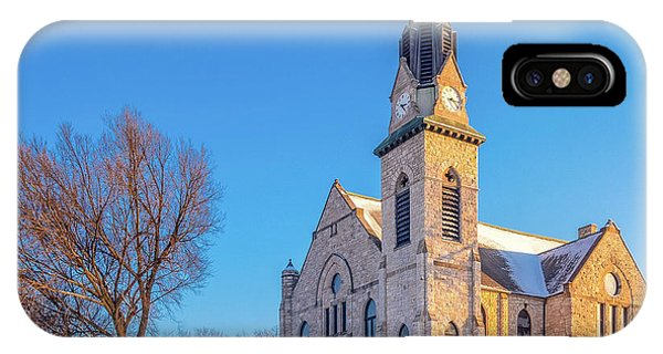 IPhone Case featuring the photograph Stone Chapel In Winter by Allin Sorenson