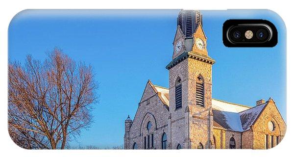 Stone Chapel In Winter IPhone Case