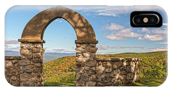 Stone Church In Autumn IPhone Case