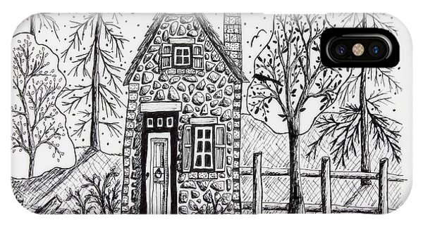 Sketch Pen iPhone Case - Stone Cottage by Karla Gerard