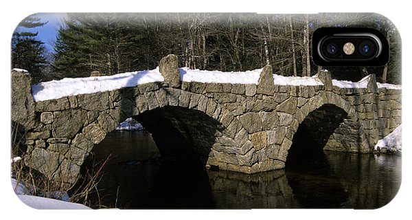 Stone Double Arched Bridge - Hillsborough New Hampshire Usa IPhone Case