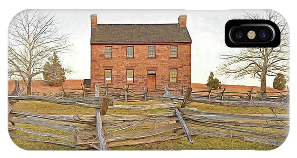 Stone House / Manassas National Battlefield / Winter Morning IPhone Case