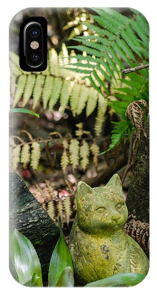Stone Kitty Among The Ferns IPhone Case