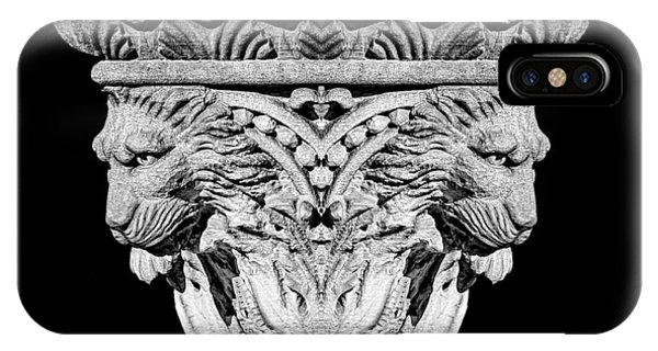 Architectural iPhone Case - Stone Lion Column Detail by Tom Mc Nemar