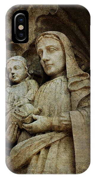 Stone Madonna And Child IPhone Case