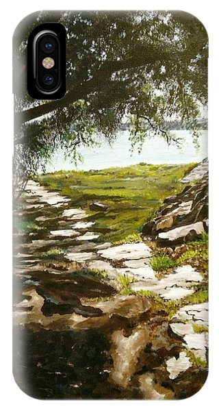 Stone Path To The Ocean IPhone Case