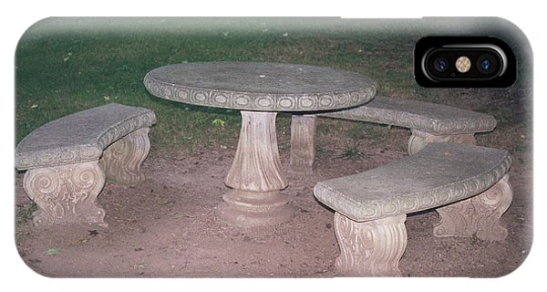 Stone Picnic Table And Benches IPhone Case