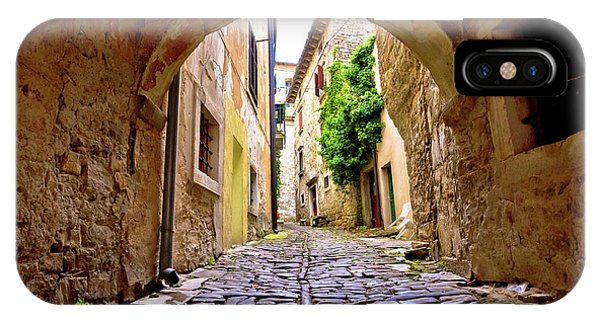 Stone Town Of Groznjan Old Street  IPhone Case