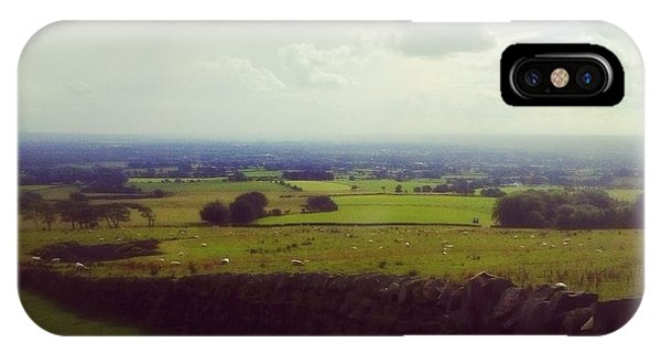 Stone Wall, Beacon Fell, Lancashire, Uk IPhone Case