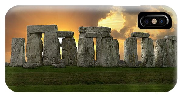 IPhone Case featuring the photograph Stonehenge by Don and Bonnie Fink