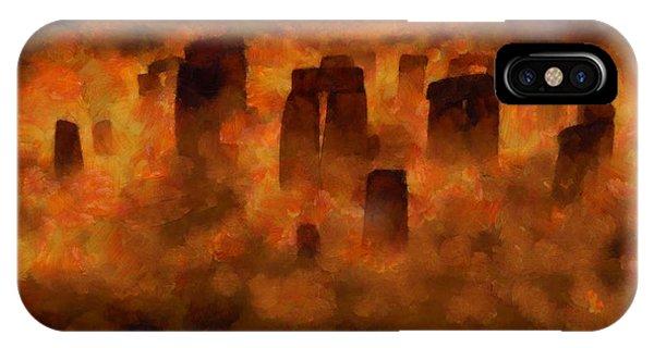 Strange iPhone Case - Stonehenge by Esoterica Art Agency