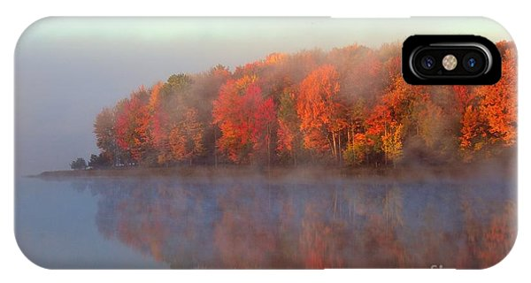 Stoneledge Lake Pristine Beauty In The Fog IPhone Case
