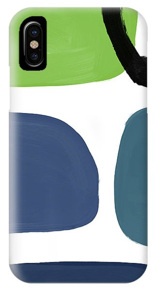 Abstract Modern iPhone Case - Stones 7- Modern Art By Linda Woods by Linda Woods