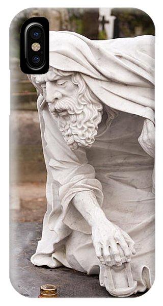 Stonework Of Pensive Chronos Statue IPhone Case