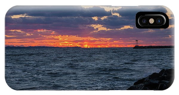 IPhone Case featuring the photograph Stonington Point Sunset by Kirkodd Photography Of New England