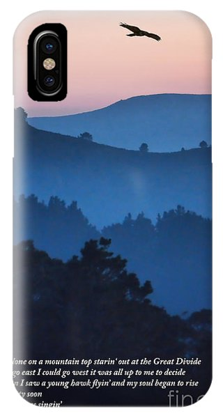 Stood Alone On The Mountain Top IPhone Case