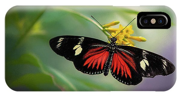 Butterfly, Stop And Smell The Flowers IPhone Case