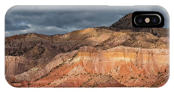 Storm Above Ghost Ranch Mountains IPhone Case
