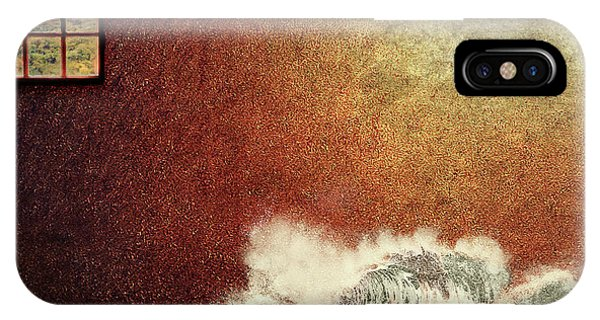 Storm Against The Walls IPhone Case