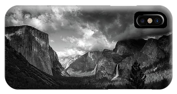 Storm Arrives In The Yosemite Valley IPhone Case