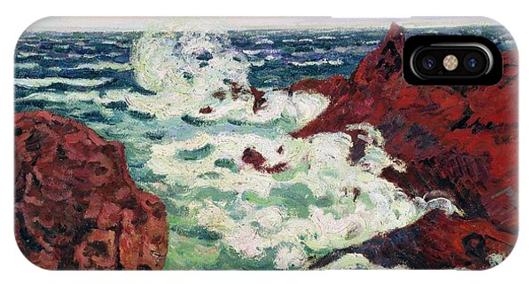 1895 iPhone Case - Storm At Agay by Jean Baptiste Armand Guillaumin