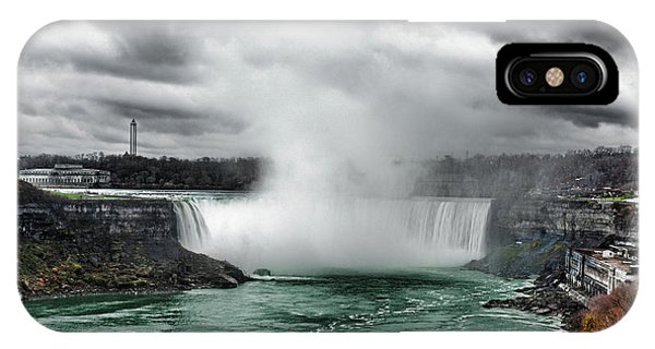 Storm At Niagara IPhone Case