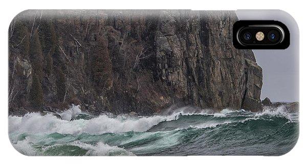 Split Rock iPhone Case - Storm At Split Rock Lighthouse by Paul Freidlund