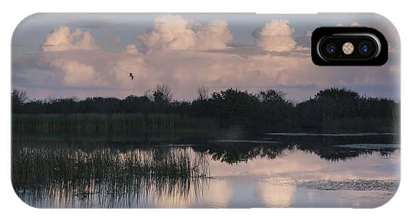 Storm At Sunrise Over The Wetlands IPhone Case