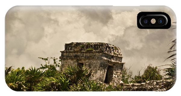 Solidity iPhone Case - Storm At Talum Ruins Mexico by Douglas Barnett